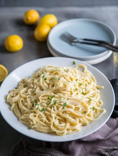 Lemon pasta with lemons