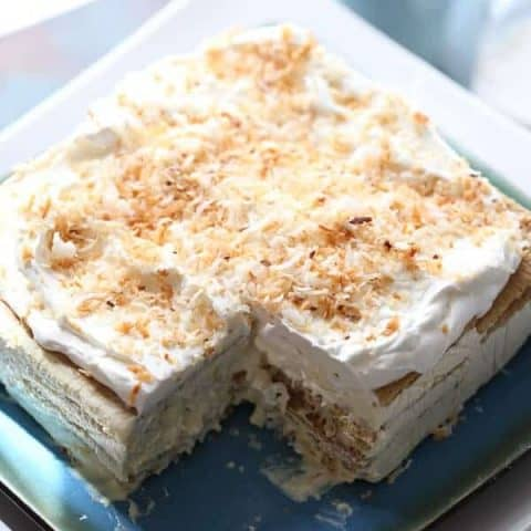Vanilla Coconut Ice Box Cake