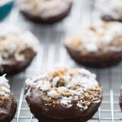 Almond Coconut Chocolate Donuts