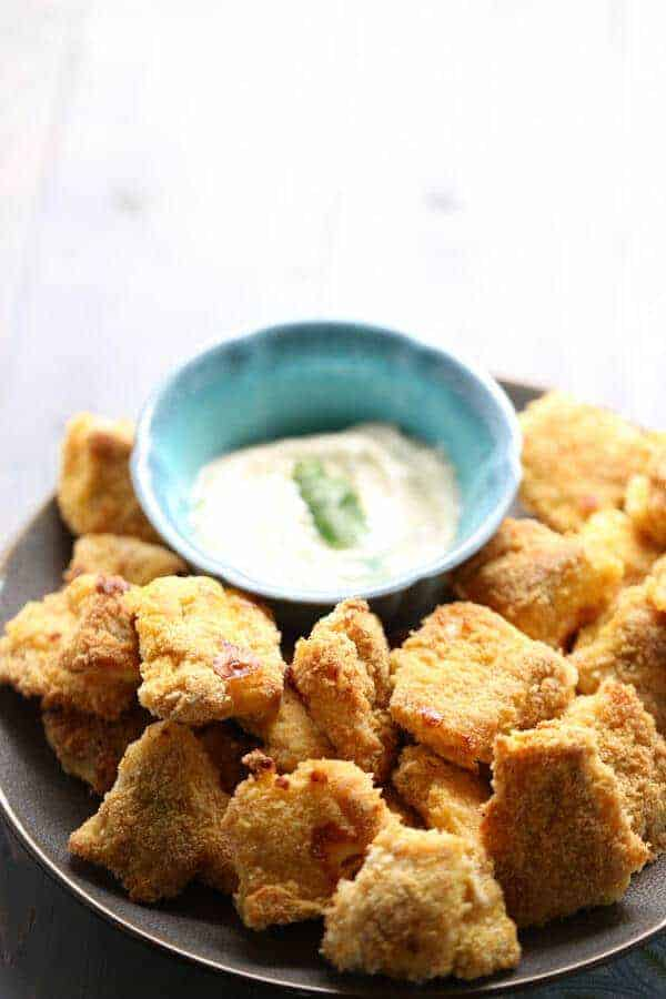 Catfish bites are double coated and then baked which keeps them light and crispy! lemonsforlulu.com