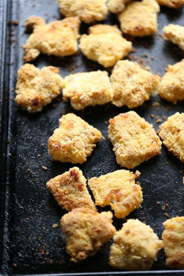 Catfish is lightly coated and baked for flavorful bite sized treats! lemonsforlulu.com