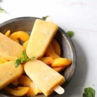 Basil Peach Margarita Popsicles