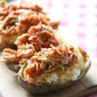 Barbecue Chicken Twice Baked Potatoes