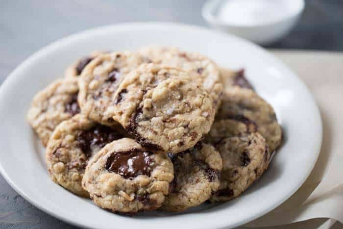 Cowboy cookies are a classic! These cookies are made with aromatic browned butter, nutty coconut, oats, darch chocolate and sea salt! lemonsforlulu.com
