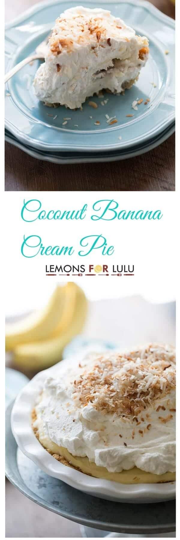 Coconut Banana Cream Pie - LemonsforLulu.com