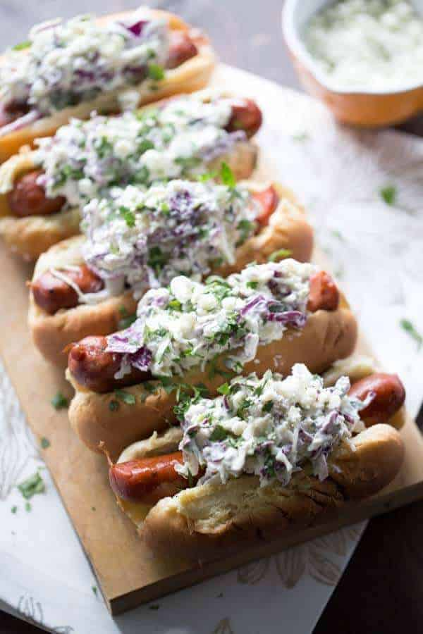 ... is covered in a creamy, cool blue cheese coleslaw! lemonsforlulu.com
