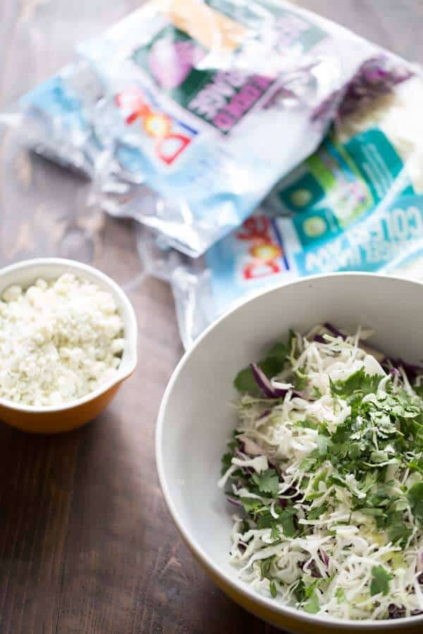 Easy blue cheese coleslaw recipe! lemonsforlulu.com
