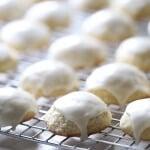Soft sugar cookies with poppy seeds and lemons. A simple lemon frosting crowns the top! lemonsforlulu.com #SplendaSweeties #SweetSwaps #ad