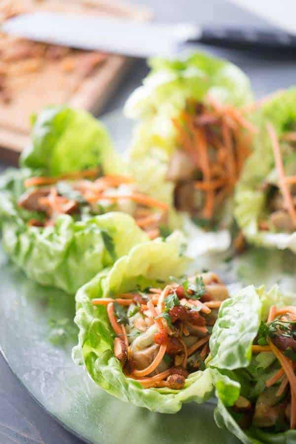 Chicken Lettuce Wraps {Lemons for Lulu}