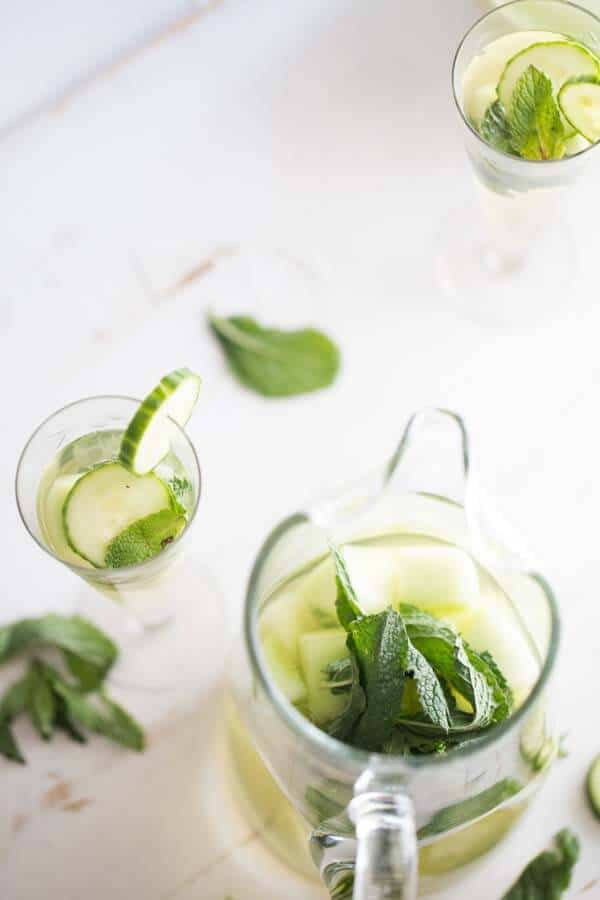 Sangria doesn't get better than this! Prosecco, grape juice, crips cucumber, ripe melon and cool mint make this whtie sangria unforgettable! lemonsforlulu.com