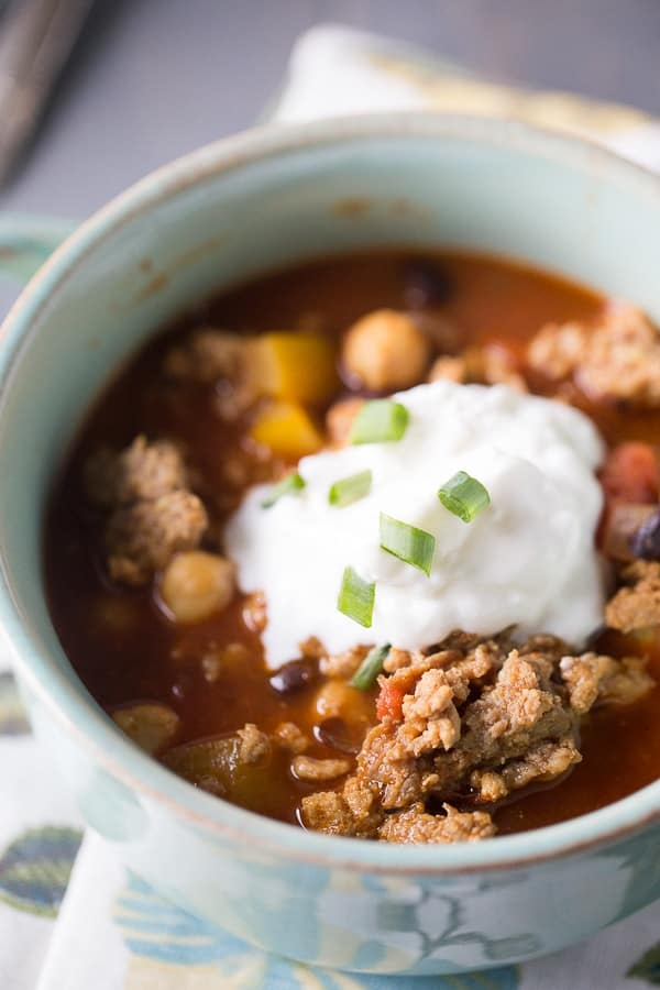 This Indian chili is a quick recipe that is perfect for those cold fall nights! lemonsforlulu.com