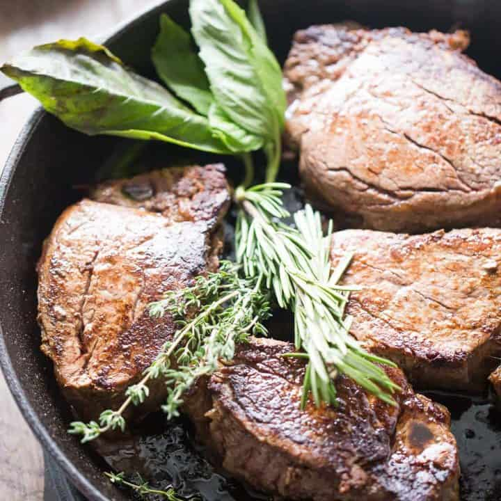 Beef Tenderloin with Mushrooms and Fresh Herb Butter