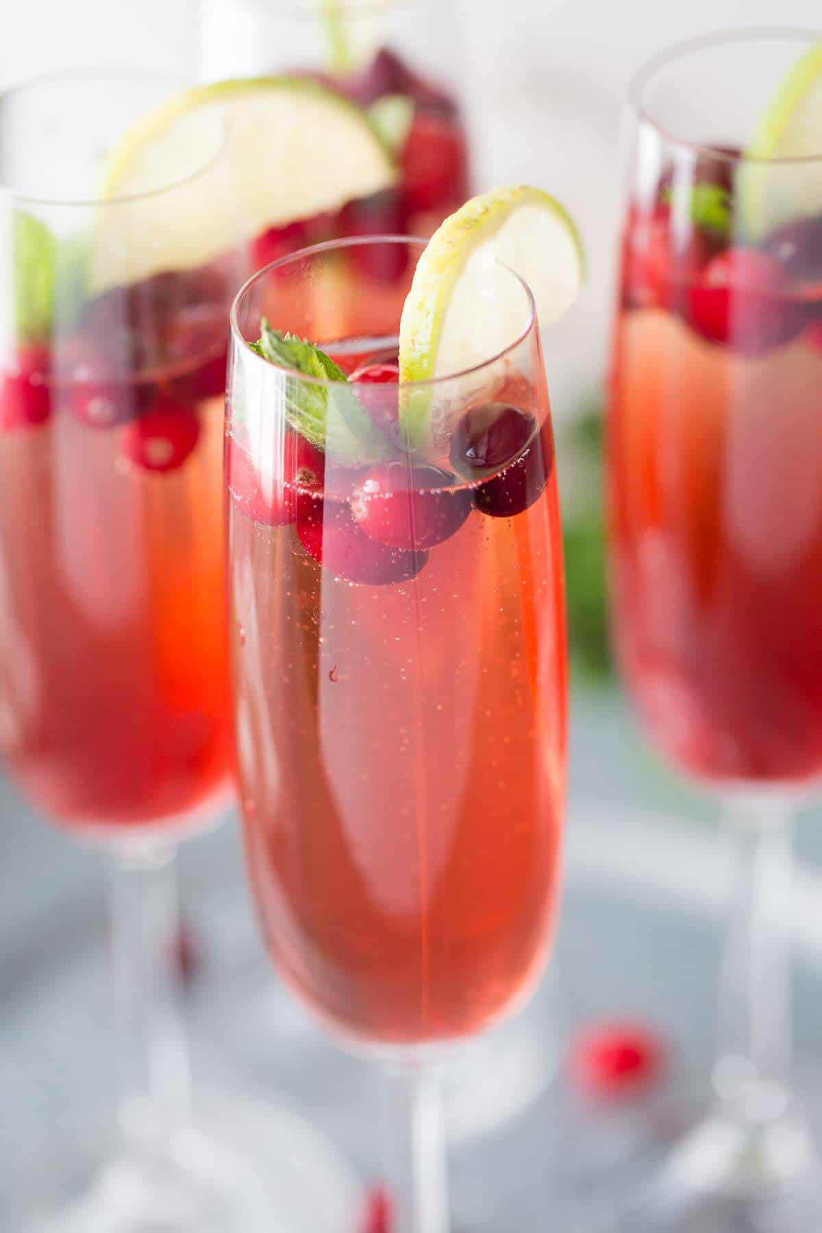 Cape cod champagne cocktail for Champagne mixed drinks