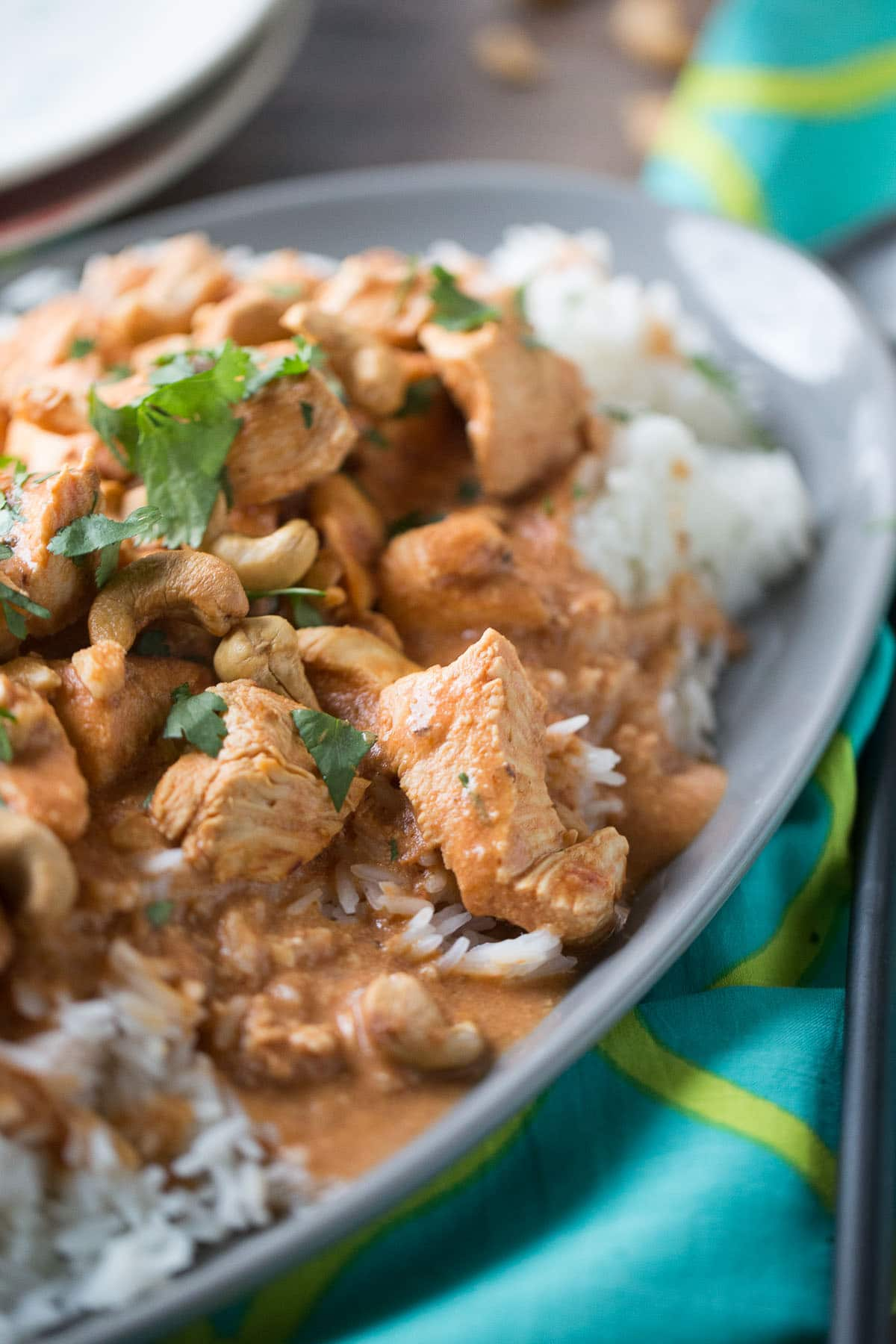 simple chicken curry recipe made with cashews, cashew milk, and a ...