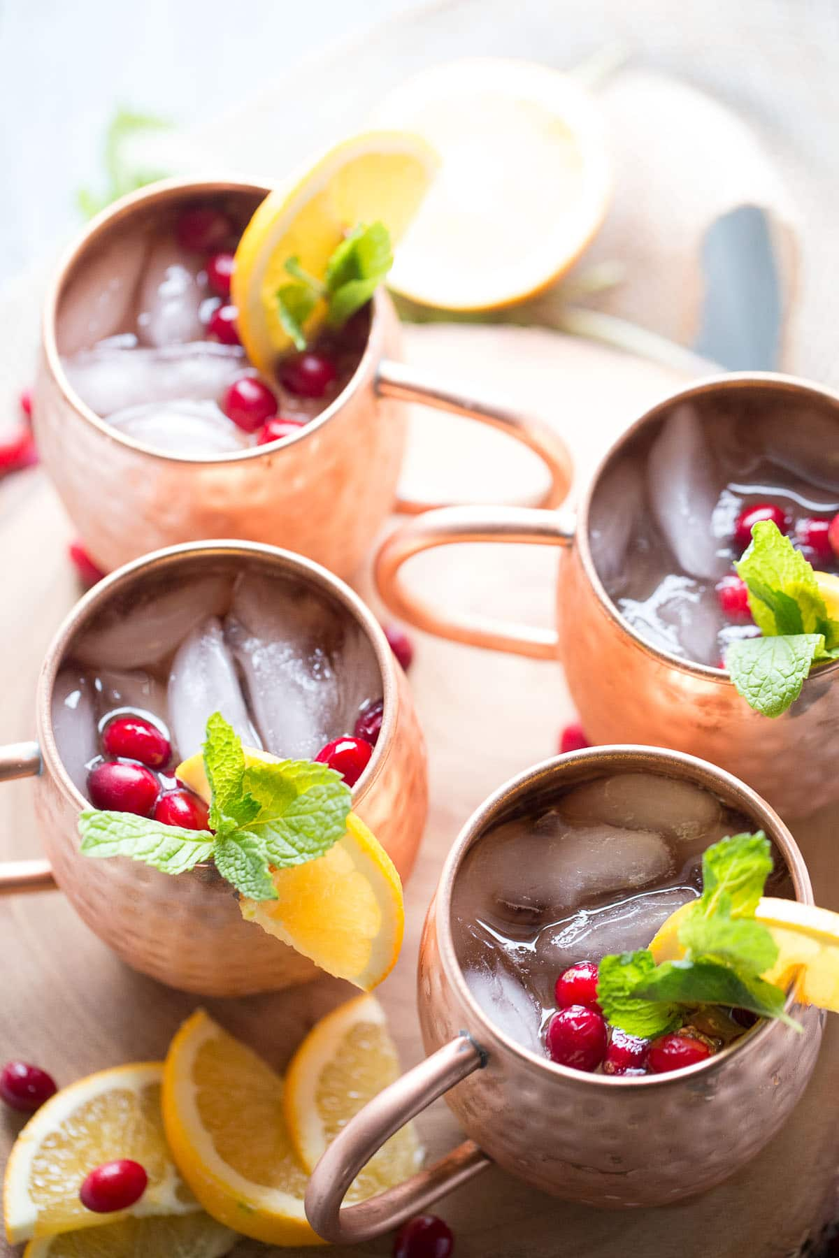 And Easy Moscow Mule Recipe With Cranberry Juice Ginger Beer A Hint Of Citrus