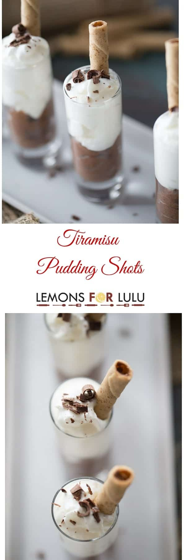 Is this Tiramisu pudding shots recipe dessert or just another boozy pudding shot? Each little cup is decadent, rich and irresistible! lemonsforlulu.com