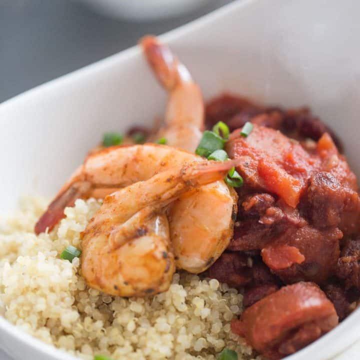 Cajun Shrimp Quinoa Bowl