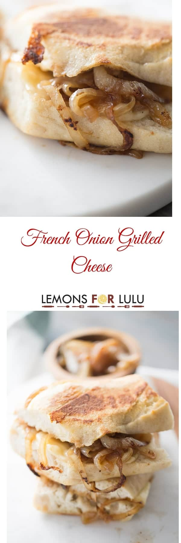 Caramelized onions and lots of gooey cheese come together to taste like the classic French onion soup!! lemonsforlulu.com