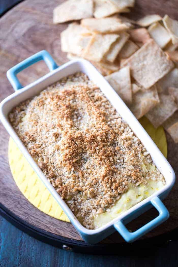 Dill pickle dip with cream cheese, Parmesan cheese and lots of dill ...