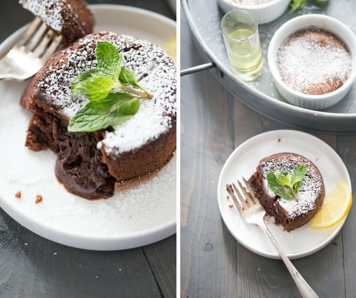 Want a dessert that will impress? Then look no further than this easy lava cake recipe! A hint of lemon adds elegants and a flavor surprise to thes rich cakes, but the fudgy center makes them irresistible!