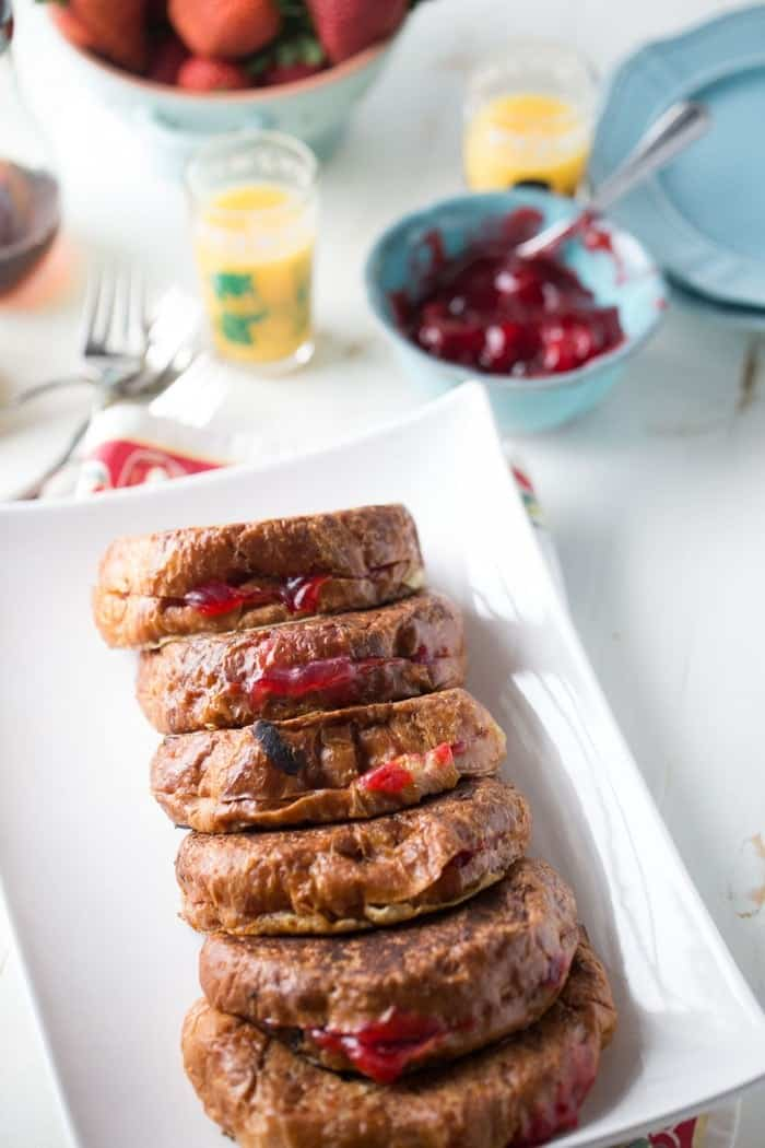 Cuban Style Croissant French Toast is simple, sweet and absolutely delicious!