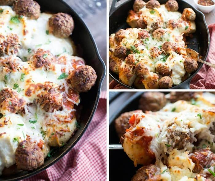 This easy Italian meal can be made in minutes! Garlic bread, meatballs and cheeses make plain old meatballs very exciting!