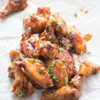 Sticky Stout Baked Chicken Wings