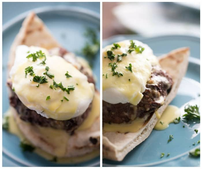 An easy egg benedict recipe with lots of bold, Greek flavor in every bite!