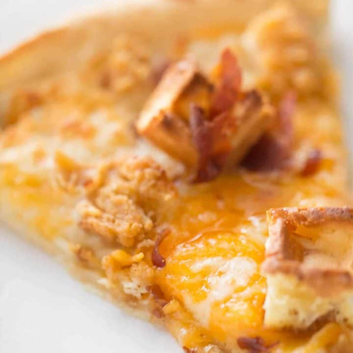 Chicken and Waffles Pizza