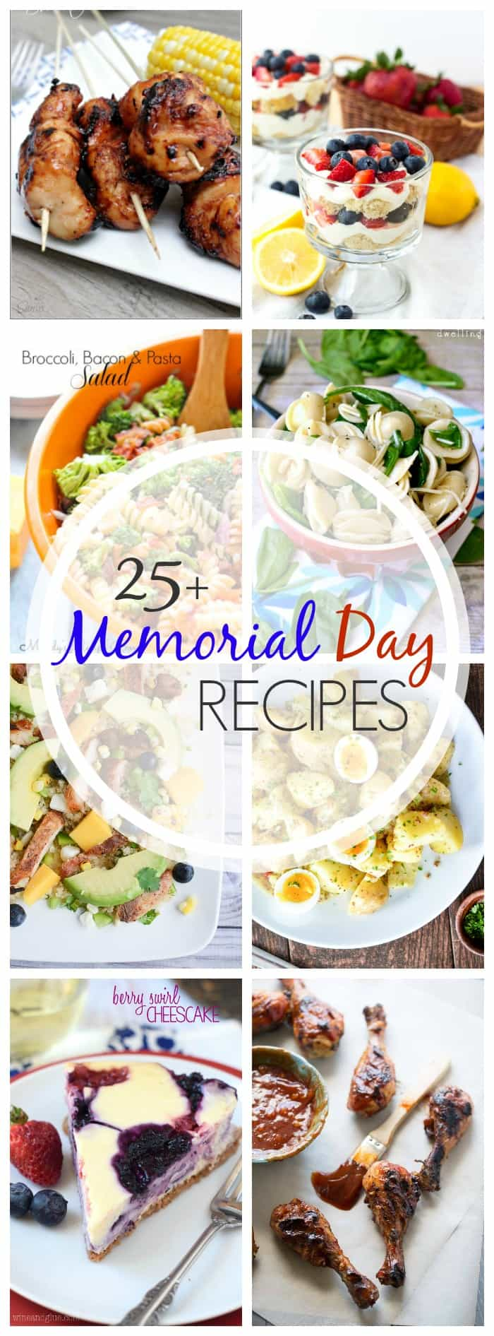 Ready for summer! Get your party started with these easy Memorial Day recipes!