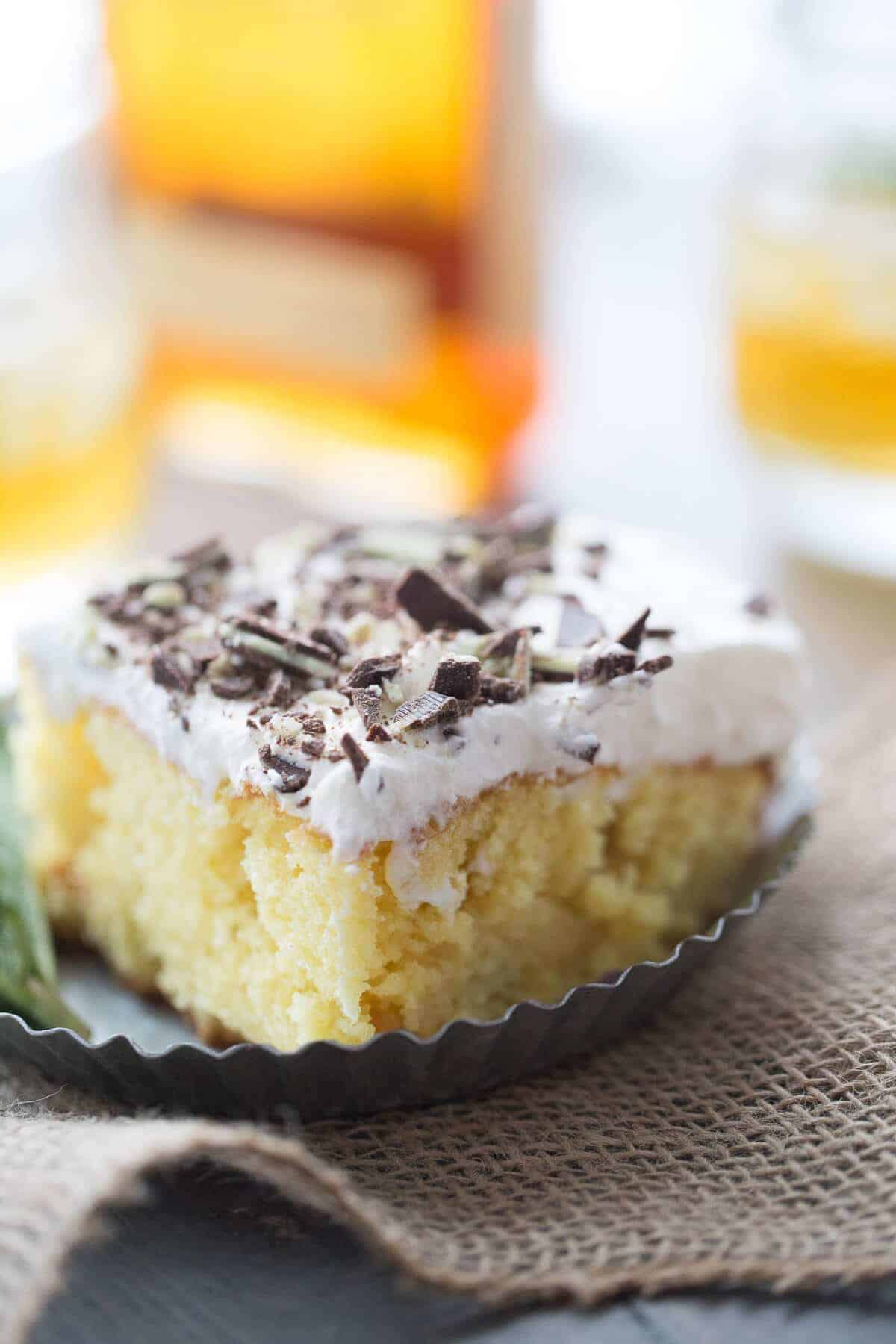 A classic mint julep recipe transforms into a deliciously moist poke cake!