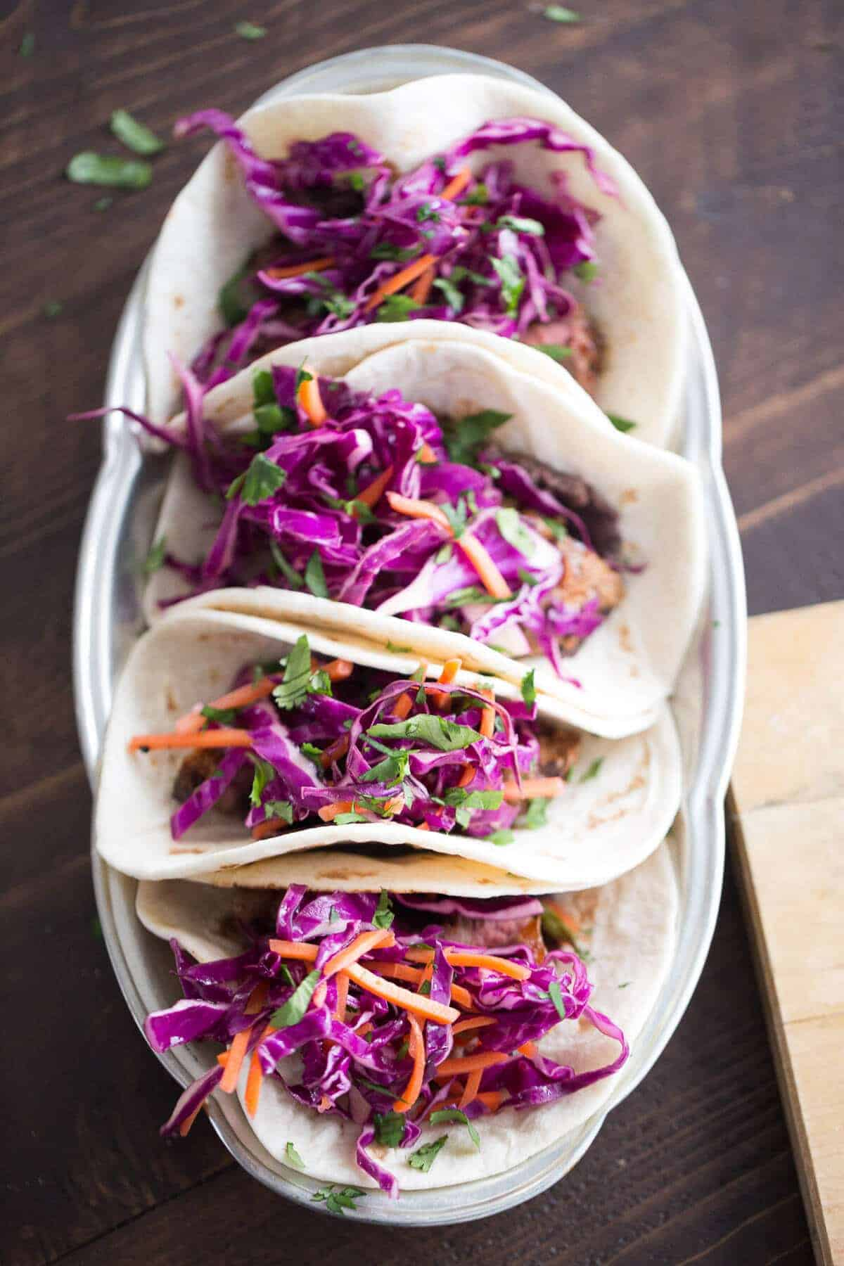 Fusion Steak Tacos {Lemons for Lulu}