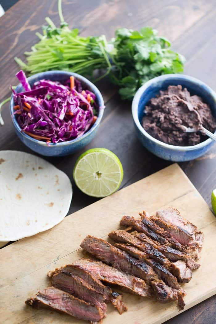 Grilled Steak Tacos, shared by Lemons for Lulu at The Chicken Chick's Clever Chicks Blog Hop