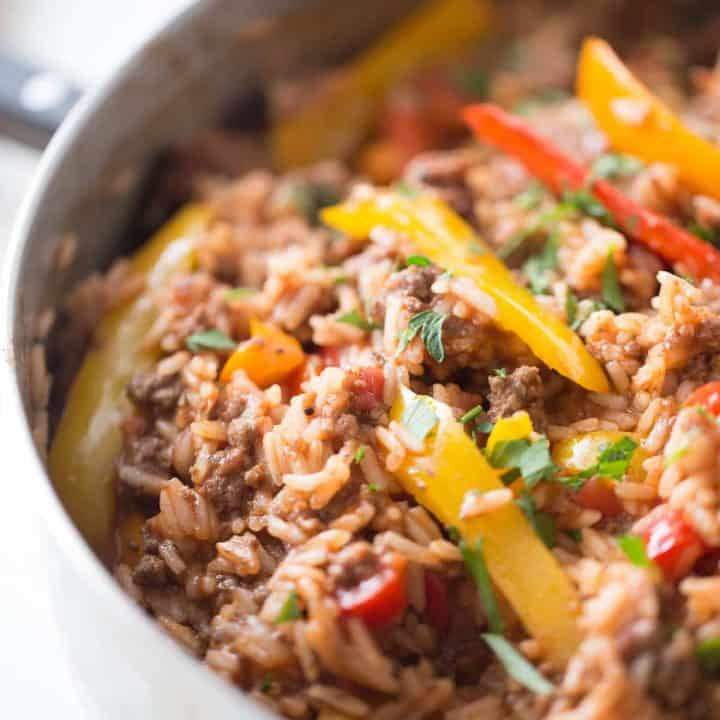 One Pot Unstuffed Peppers