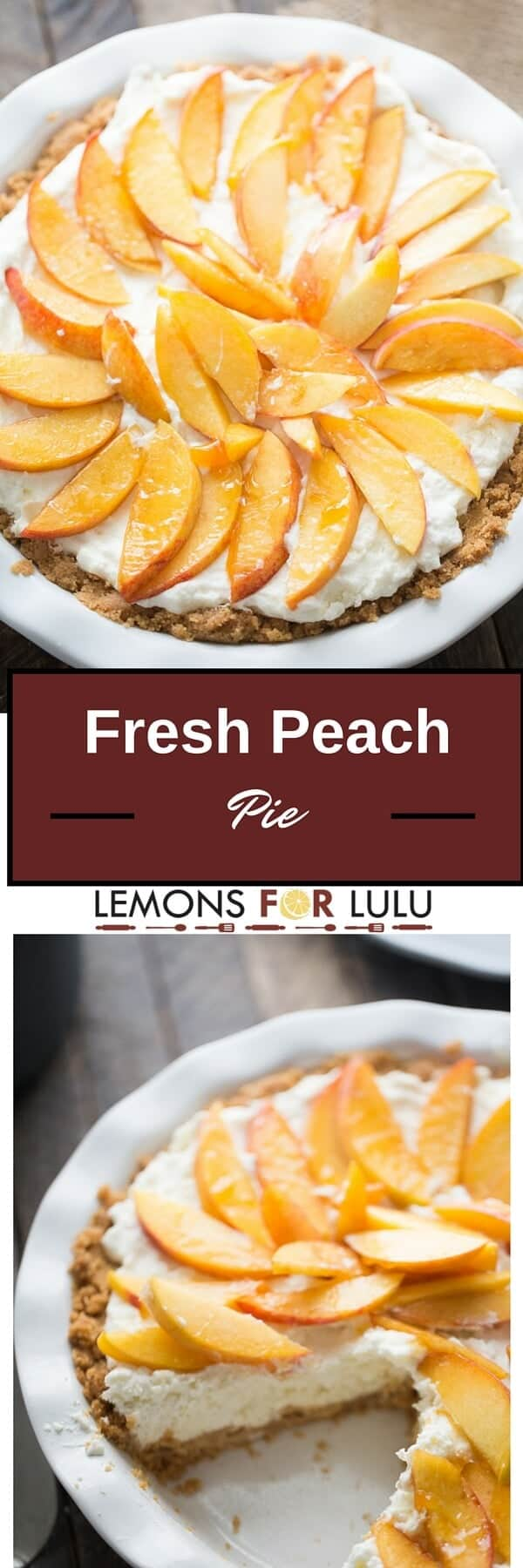 Fresh Peach Pie - LemonsforLulu.com