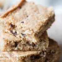 Coconut Blondies Photograph
