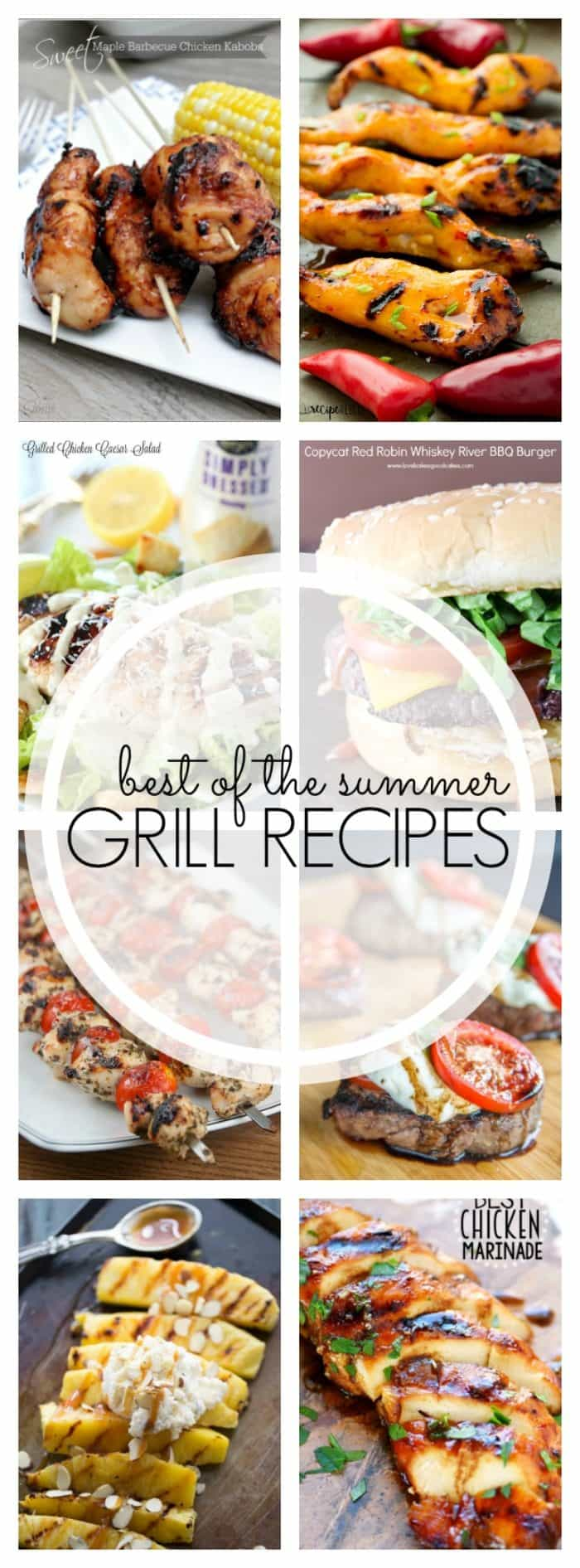 Grill recipes for summer!  These recipes feature fresh flavors that only summer can bring!