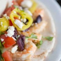 Garlic Shrimp Gyro Sandwich