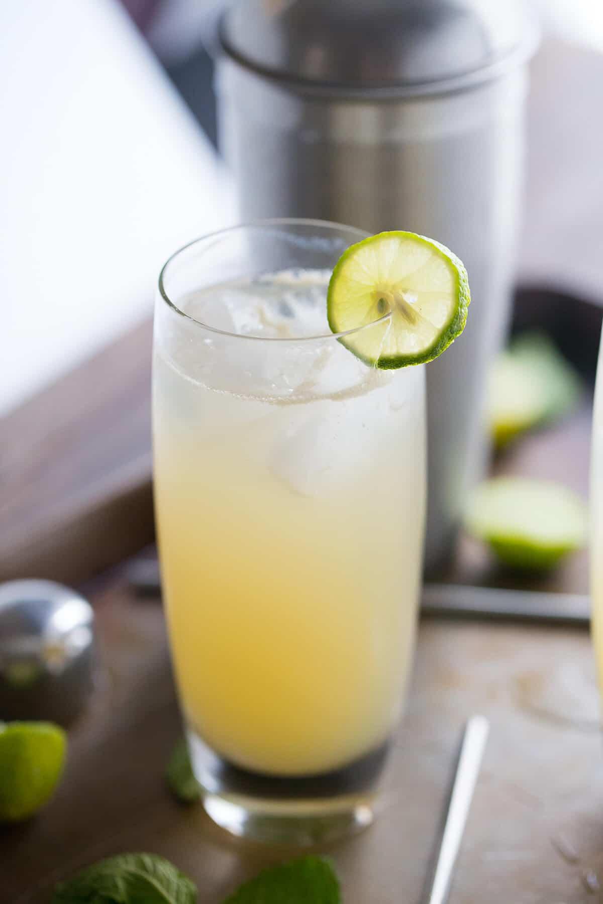 Key lime vodka collins for Tea infused vodka cocktails