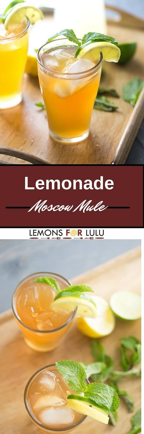 This mule cocktail is like summer in a glass. Refreshing lemonade, lemon and limes collide with crisp ginger beer and vodka for this grown up treat!