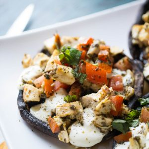 Caprese Chicken Portobello Mushrooms Recipe-6