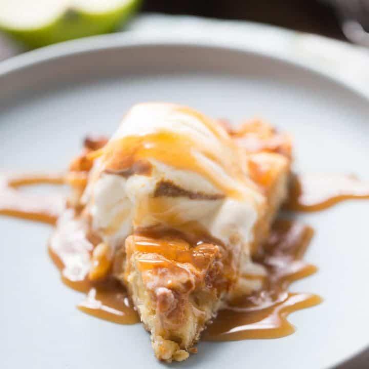 Apple Butterscotch Skillet Cookie
