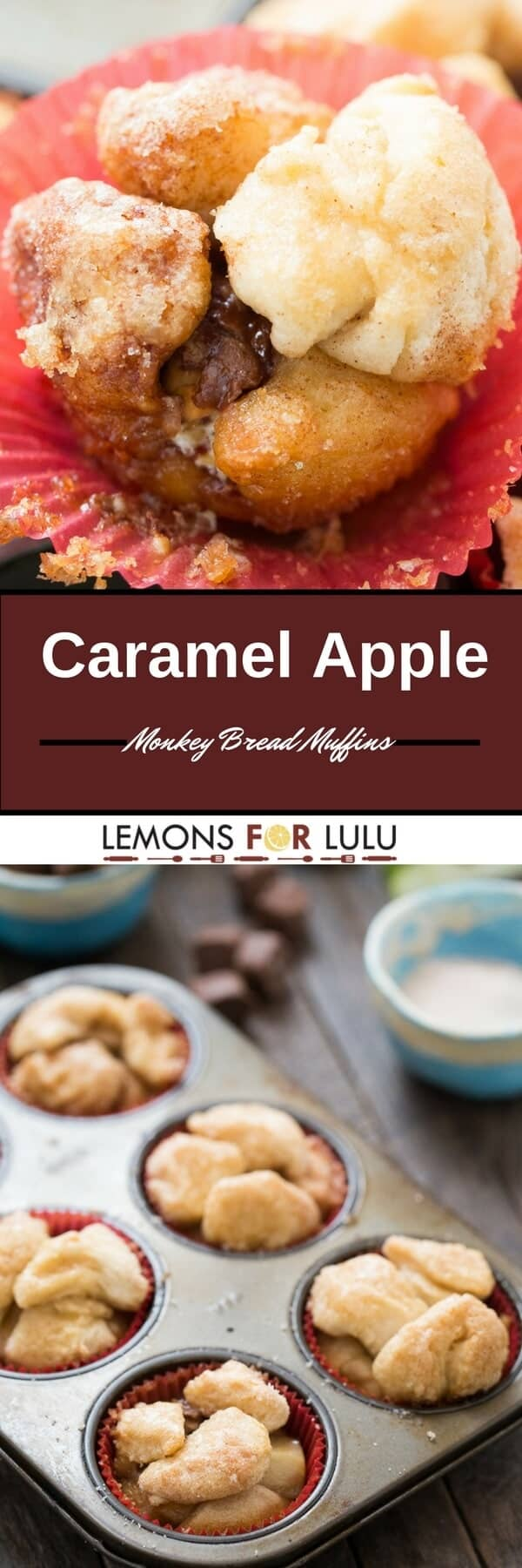 Caramel and apples make for a delicious filling for these easy monkey bread muffins!