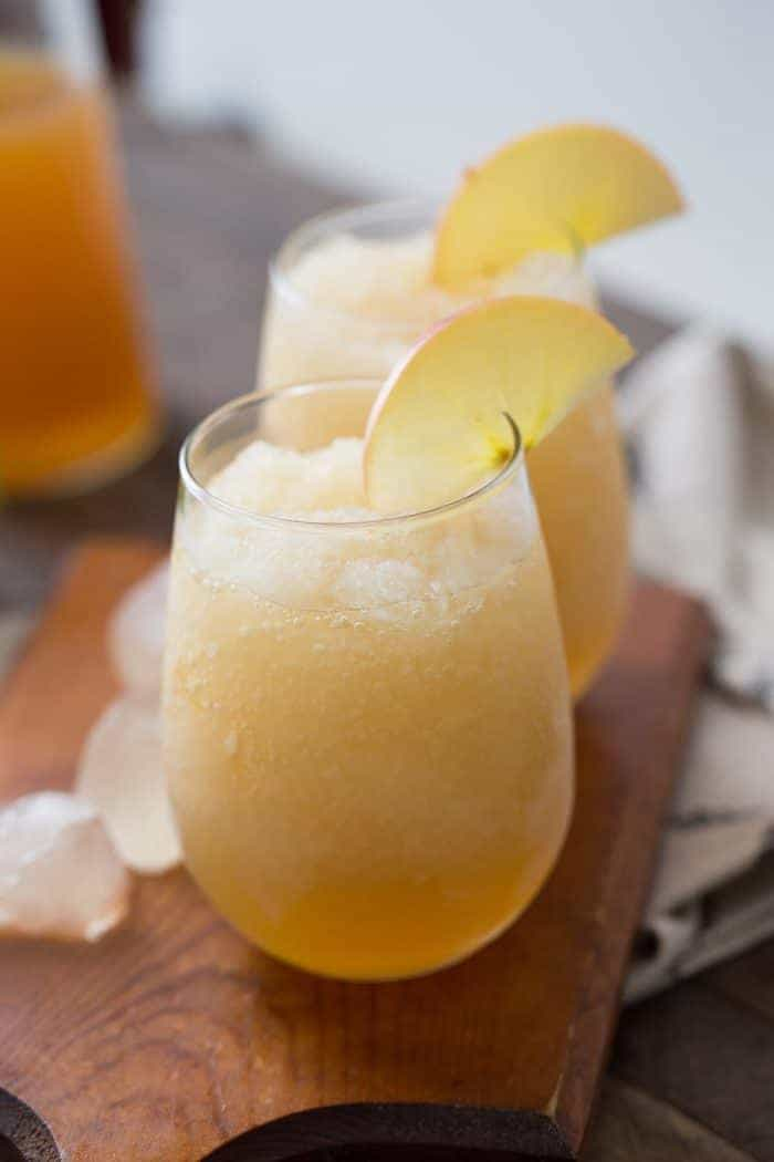 Pinot grigio and apple cider make delicious wine slushies!