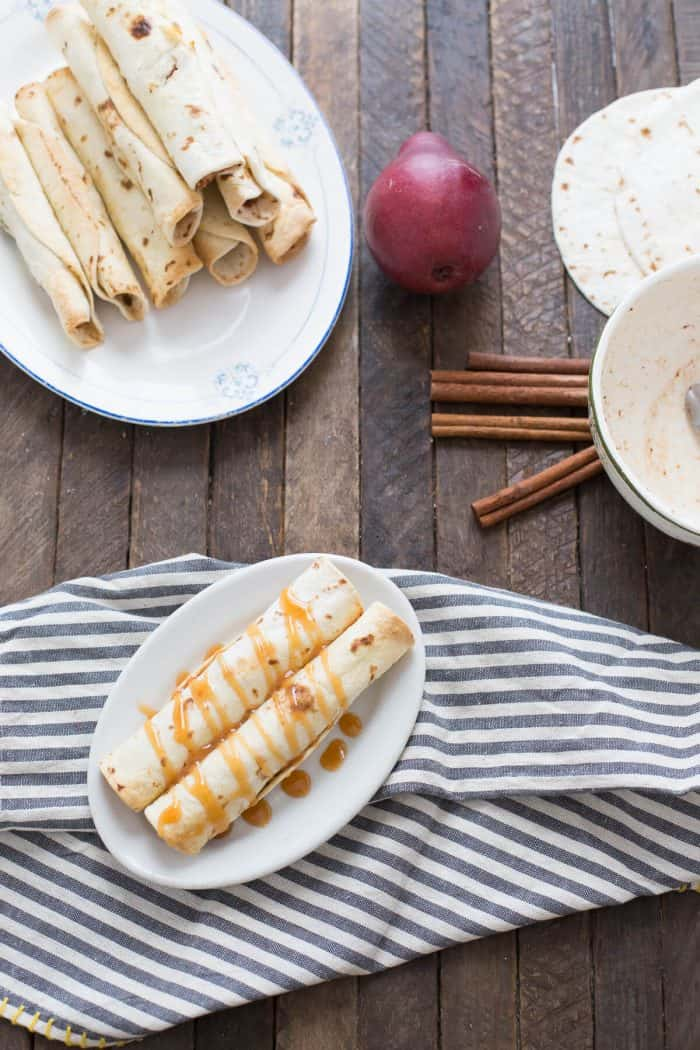 Love pears? These taquitos feature cinnamon spiced pears that bake up soft and sweet.