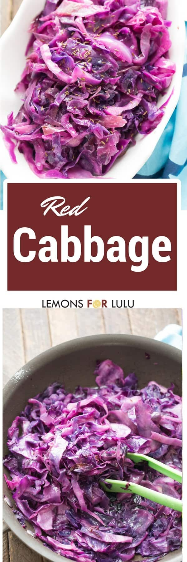 Simple recipes can be so good! This red cabbage recipe is definitely simple plus it tastes great and goes with anything!
