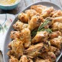 Crispy Baked Chicken Wings with Carolina Mustard Sauce