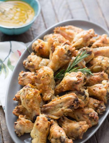 These are the crispiest wings! Rosemary and garlic make them so flavorful!
