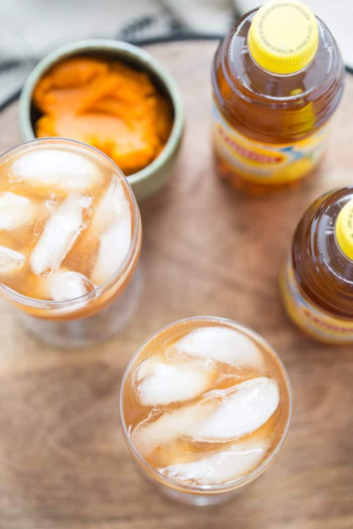 Forget the latte, try a pumpkin spice iced tea instead!