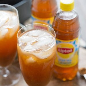 Pumpkin spice makes one delicious ice tea, it's not just for hot beverages!